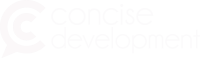 concise development logo
